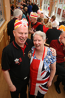 Geoff and Marilyn Mansfield at the Mansfield Colliery Welfare Jubilee Party won in a competition run by Iceland by Walter Pichford
