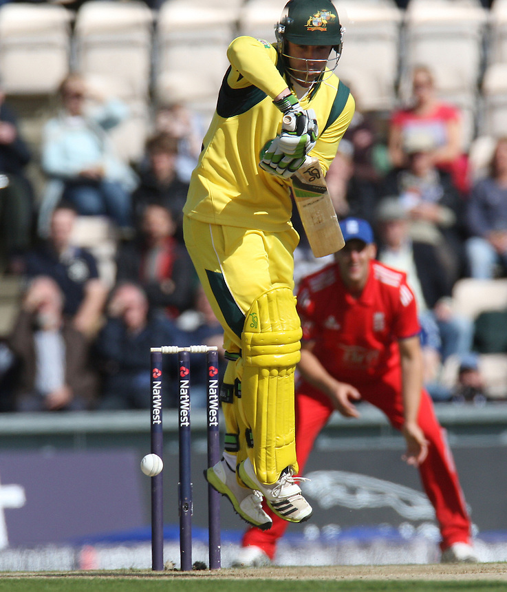 Australia's Phil Hughes in action<br /> <br /> International Cricket - NatWest Series - 5th ODI -  England v Australia - Monday 16th September 2013 - Ageas Bowl - Southampton<br /> <br /> &copy; CameraSport - 43 Linden Ave. Countesthorpe. Leicester. England. LE8 5PG - Tel: +44 (0) 116 277 4147 - admin@camerasport.com - www.camerasport.com