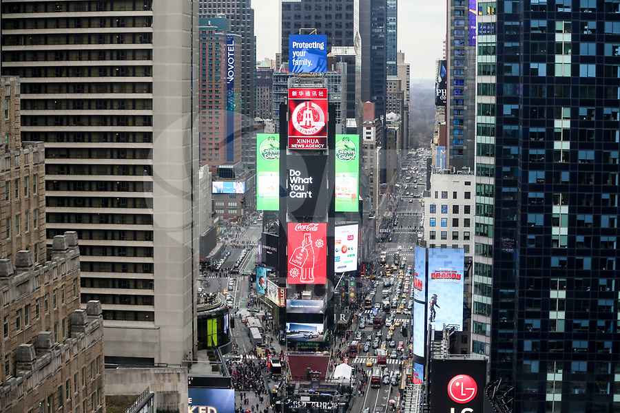 NOVA YORK, EUA, 30.12.2O18 - TURISMO-EUA - Vista da Times Square na cidade de Nova York nos Estados Unidos neste domingo, 30. (Foto: William Volcov/Brazil Photo Press)
