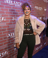 """LOS ANGELES - FEBRUARY 19: Amanda Seales arrives at the red carpet event for FX's """"Atlanta Robbin' Season"""" at the Ace Theatre on February 19, 2018 in Los Angeles, California.(Photo by Frank Micelotta/FX/PictureGroup)"""