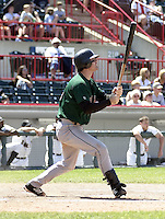 June 27, 2004:  Ryan Doumit of the Altoona Curve, Double-A affiliate of the Pittsburgh Pirates, during a game at Jerry Uht Park in Erie, PA.  Photo by:  Mike Janes/Four Seam Images
