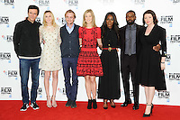 "Jack Davenport, Laura Carmichael, Tom Felton, Rosamund Pike, director, Amma Asante, David Oyelowo and Jessica Oyelowo<br /> at the London Film Festival photocall for the opening film, ""A United Kingdom"", Mayfair HotelLondon.<br /> <br /> <br /> ©Ash Knotek  D3159  05/10/2016"