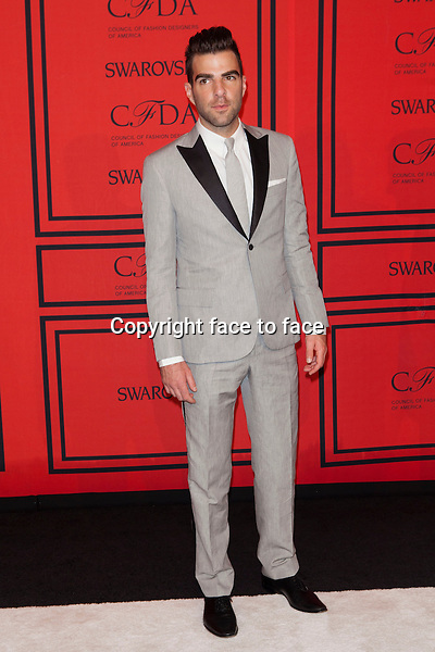 NEW YORK, NY - JUNE 3: Zachary Quinto at the 2013 CFDA Fashion Awards at Lincoln Center's Alice Tully Hall in New York City. June 3, 2013. <br /> Credit: MediaPunch/face to face<br /> - Germany, Austria, Switzerland, Eastern Europe, Australia, UK, USA, Taiwan, Singapore, China, Malaysia, Thailand, Sweden, Estonia, Latvia and Lithuania rights only -