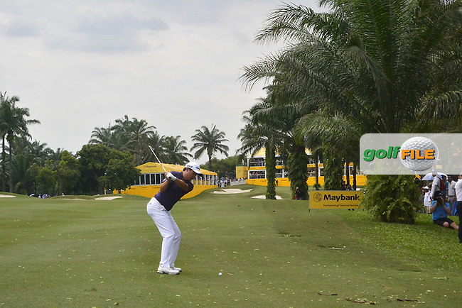 David Lipsky (USA) on the 18th fairway during Round 4 of the Maybank Championship on Sunday 12th February 2017.<br /> Picture:  Thos Caffrey / Golffile<br /> <br /> All photo usage must carry mandatory copyright credit     (&copy; Golffile | Thos Caffrey)