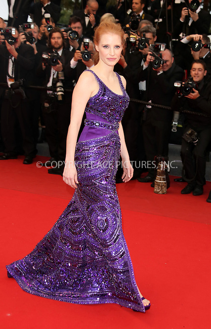 WWW.ACEPIXS.COM....US Sales Only....May 22 2013, Cannes....Jessica Chastain at the premiere of 'All Is Lost' during the 66th Cannes Film Festival on May 22 2013 in France ....By Line: Famous/ACE Pictures......ACE Pictures, Inc...tel: 646 769 0430..Email: info@acepixs.com..www.acepixs.com