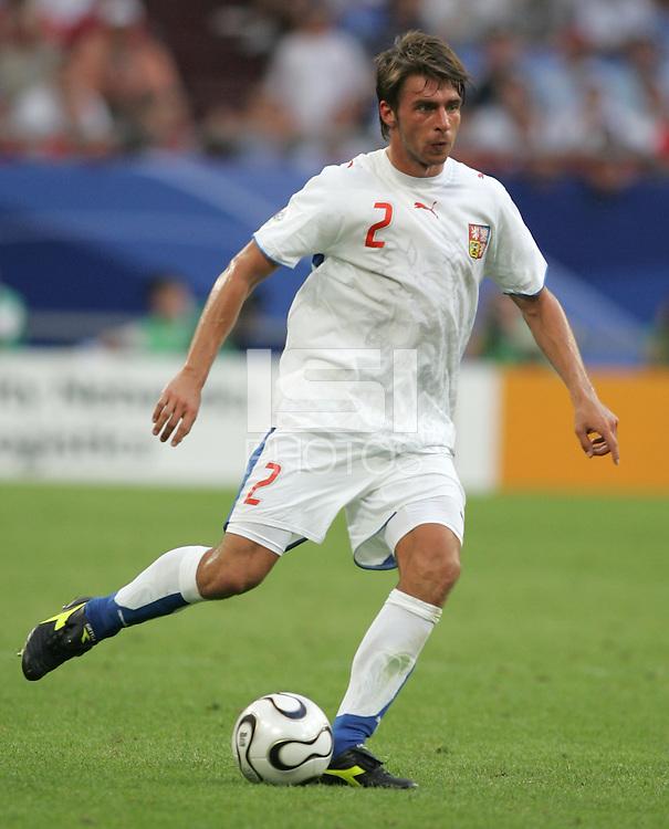 Zdenek Grygera of the Czech Republic. The Czech Republic defeated the USA 3-0 in their FIFA World Cup Group E match at FIFA World Cup Stadium, Gelsenkirchen, Germany, June 12, 2006.