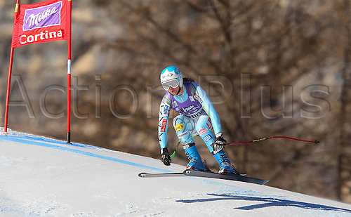 13.01.2012 Cortina D Ampezzo, Italy. The Ski Alpine FIS World Cup Downhill Training for women Picture shows Juliet Mancuso USA