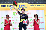 Damien Gaudin (FRA) Direct Energie wins the days combativity award at the end of Stage 6 of the 2018 Tour de France running 181km from Brest to Mur-de-Bretagne Guerledan, France. 12th July 2018. <br /> Picture: ASO/Alex Broadway | Cyclefile<br /> All photos usage must carry mandatory copyright credit (&copy; Cyclefile | ASO/Alex Broadway)
