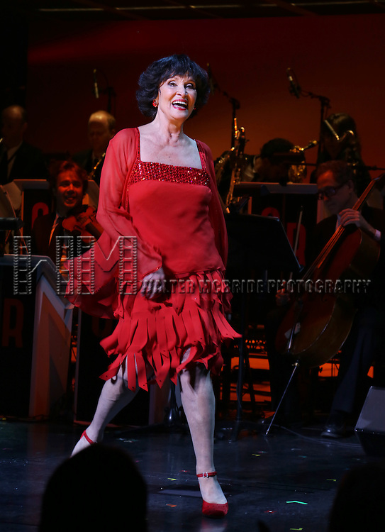 Chita Rivera performing a Gala Benefit Concert 'Chita: A Legendary Celebration' at the August Wilson Theatre on October 7, 2013 in New York City.