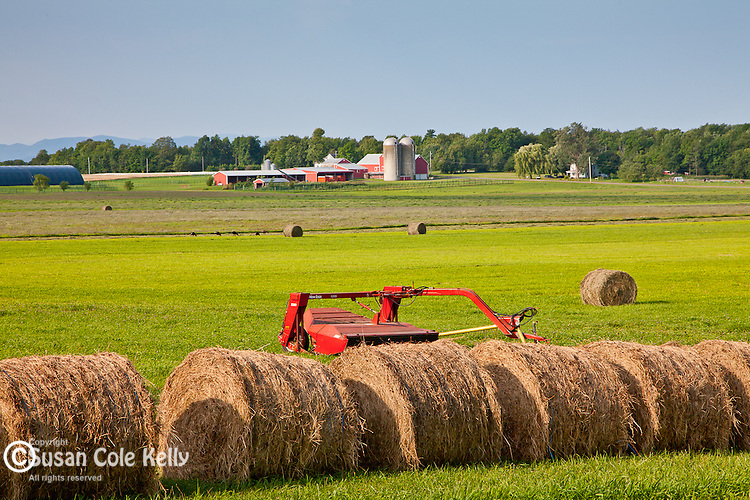 Farmland on the Lake Champlain Islands, South Hero, VT, USA