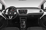 Stock photo of straight dashboard view of a 2014 Seat MII Style 5 Door Hatchback 2WD Dashboard