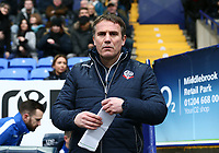 Bolton Wanderers' Phil Parkinson<br /> <br /> Photographer Leila Coker/CameraSport<br /> <br /> The EFL Sky Bet Championship - Bolton Wanderers v Fulham - Saturday 10th February 2018 - Macron Stadium - Bolton<br /> <br /> World Copyright &copy; 2018 CameraSport. All rights reserved. 43 Linden Ave. Countesthorpe. Leicester. England. LE8 5PG - Tel: +44 (0) 116 277 4147 - admin@camerasport.com - www.camerasport.com