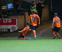 8th November 2019; Dens Park, Dundee, Scotland; Scottish Championship Football, Dundee Football Club versus Dundee United; Nicky Clark of Dundee United celebrates after scoring for 1-0 in the 55th minute - Editorial Use - Editorial Use