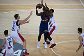 3rd November 2017, Palau Blaugrana, Barcelona, Spain; Turkish Airlines Euroleague Basketball, FC Barcelona Lassa versus Olympiacos Piraeus; 21 SANDERS, RAKIM of FC Barcelona Lassa in action during the match of round 5 of regular season in the 2017/2018 Turkish Airlines EuroLeague