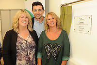 Former Kerry footballer and  Dancing with the Stars winner Aidan OÕMahony with  Eileen Keane and Gretta Murphy  at the opening of the Irish Wheelchair Association new Community Centre at The Reeks Gateway, Killarney on Friday.   Picture: macmonagle.com