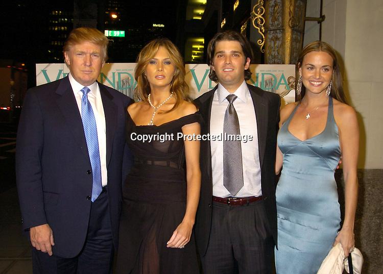 Donald Trump And Wife Melania Son Jr Fiancee Vanessa Hayden