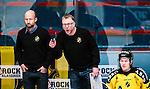 Stockholm 2014-11-16 Ishockey Hockeyallsvenskan AIK - IF Bj&ouml;rkl&ouml;ven :  <br /> AIK:s tr&auml;nare huvudtr&auml;nare Peter Nordstr&ouml;m reagerar bredvid assisterande tr&auml;nare Michael Nylander under matchen mellan AIK och IF Bj&ouml;rkl&ouml;ven <br /> (Foto: Kenta J&ouml;nsson) Nyckelord:  AIK Gnaget Hockeyallsvenskan Allsvenskan Hovet Johanneshov Isstadion Bj&ouml;rkl&ouml;ven L&ouml;ven IFB portr&auml;tt portrait tr&auml;nare manager coach