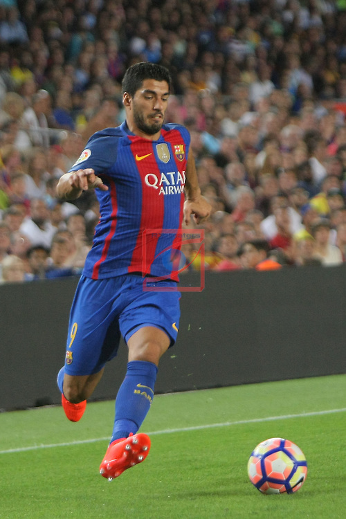 League Santander 2016/2017. Game: 3.<br /> FC Barcelona vs Deportivo Alaves: 1-2.<br /> Luis Suarez.