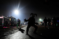 Oct. 31, 2009; Talladega, AL, USA; NASCAR Sprint Cup Series fans celebrate Halloween in the infield of the Talladega Superspeedway. Mandatory Credit: Mark J. Rebilas-