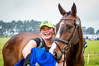 SUPERGROOM: Keryn Edmans with her charge: NZL-Samantha Felton with Ricker Ridge Rui during the CCI3* First Horse Inspection. 2016 NZL-Puhinui International 3 Day Event. Puhinui Reserve, Auckland. Thursday 8 December. Copyright Photo: Libby Law Photography