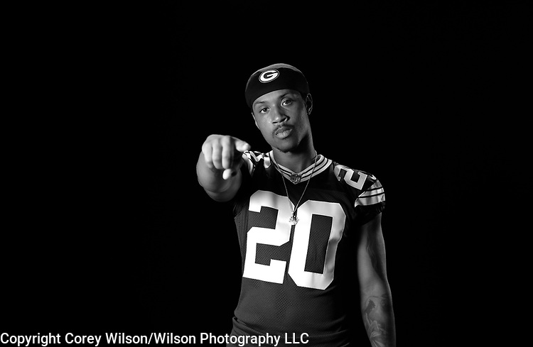 Kevin King - Green Bay Packers photo shoot for CBS at Lambeau Field in Green Bay, Wis., on July 31, 2017.