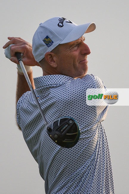 Jim Furyk (USA) watches his tee shot on 11 during day 1 of the Valero Texas Open, at the TPC San Antonio Oaks Course, San Antonio, Texas, USA. 4/4/2019.<br /> Picture: Golffile | Ken Murray<br /> <br /> <br /> All photo usage must carry mandatory copyright credit (© Golffile | Ken Murray)