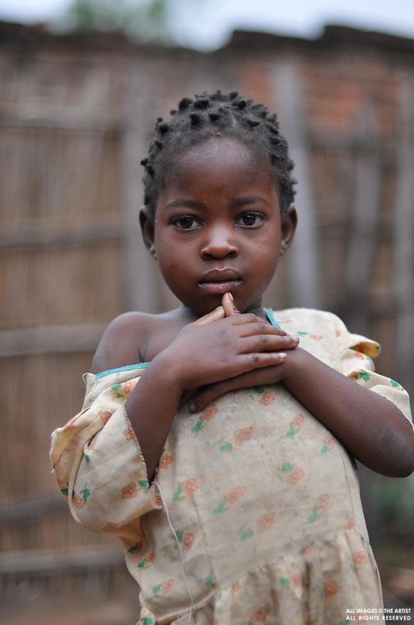 Girl in yellow dress - Kuntonda Village - Mulanje District - Malawi Africa