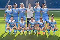 Bridgeview, IL, USA - Sunday, May 29, 2016:  Chicago Red Stars Starting eleven before a regular season National Women's Soccer League match between the Chicago Red Stars and Sky Blue FC at Toyota Park. The game ended in a 1-1 tie.