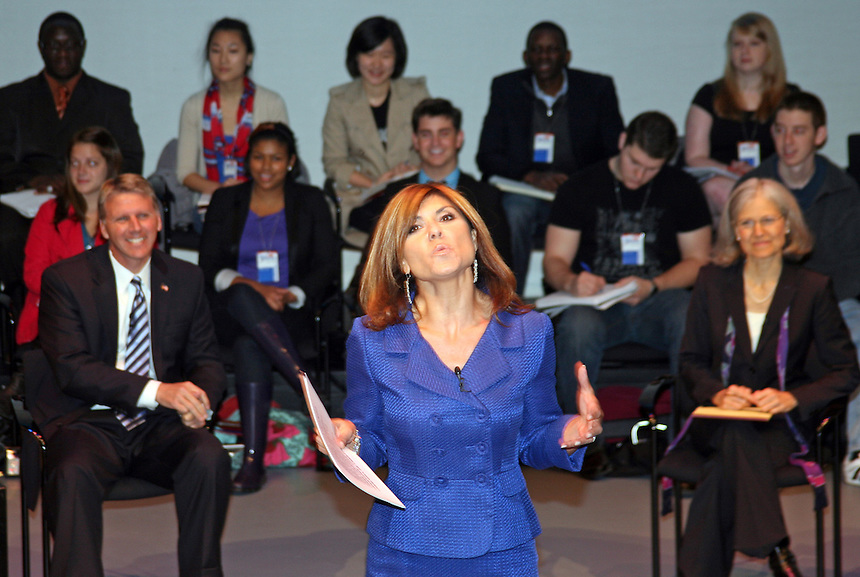 A gubernatorial debate held at Emerson in the  fall of 2010. Maria Stephanos.