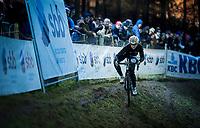 Eva Lechner (ITA/Creafin-TuvSud) balancing a perfect run during her recon ride<br /> <br /> 44th Superprestige Diegem (BEL) 2018<br /> ©kramon