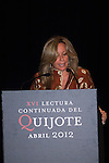24.04.2012. XVI continued reading of Don Quixote at the Circulo de Bellas Artes in Madrid. In the image Trinidad Jimenez, Deputy for Malaga, Secretary of Social Policy of the Federal Executive of the PSOE (Alterphotos/Marta Gonzalez)