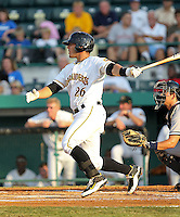 May 28, 2010: Catcher Tony Sanchez of the Bradenton Marauders, Florida State League Class-A affiliate of the Pittsburgh Pirates, during a game at McKenhnie Field in Bradenton Fl. Photo by: Mark LoMoglio/Four Seam Images