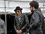 Beck (real name Beck Hansen) and Danger Mouse (real name Brian Burton) backstage at Outside Lands Festival at Golden Gate Park in San Francisco, California.