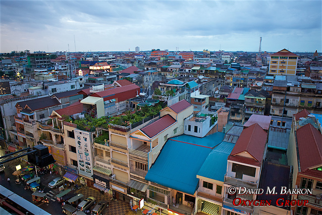 Overlooking Phnom Penh at Dusk