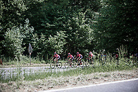 Team Lotto Soudal leads the peloton up the Cote de Maquisard<br /> <br /> Baloise Belgium Tour 2017 (2.HC)<br /> Stage 4: Ans-Ans 167,8km