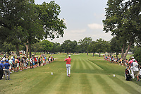 Sean O'Hair (USA) watches his tee shot on 2 during round 3 of the Dean &amp; Deluca Invitational, at The Colonial, Ft. Worth, Texas, USA. 5/27/2017.<br /> Picture: Golffile | Ken Murray<br /> <br /> <br /> All photo usage must carry mandatory copyright credit (&copy; Golffile | Ken Murray)