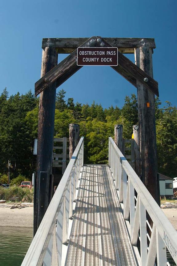 Obstruction Pass County Dock, Orcas Island, San Juan Islands, Washington, US, July 2006