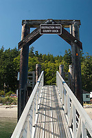 Obstruction Pass County Dock, Orcas Island, San Juan Islands, Washington, US, July 2006