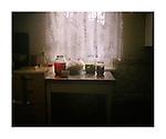 Jars of pickled vegetables, Olga's house - Rybnitsa. [November, 2010]