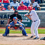30 April 2017: Washington Nationals starting pitcher Joe Ross at bat in the 4th inning against the New York Mets at Nationals Park in Washington, DC. The Nationals defeated the Mets 23-5, with the Nationals setting several individual and team records, in the third game of their weekend series. Mandatory Credit: Ed Wolfstein Photo *** RAW (NEF) Image File Available ***