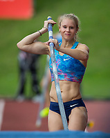 Michaela MEIJER of Sweden warms up in the Pole Vault during the Muller Grand Prix Birmingham Athletics at Alexandra Stadium, Birmingham, England on 20 August 2017. Photo by Andy Rowland.