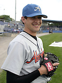 August 6, 2004:  Pitcher David Haehnel of the Aberdeen Ironbirds, Short-Season Class-A affiliate of the Baltimore Orioles, during a game at Dwyer Stadium in Batavia, NY.  Photo by:  Mike Janes/Four Seam Images