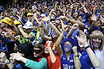 07 February 2015: Duke fans, also known as Cameron Crazies. The Duke University Blue Devils hosted the University of Notre Dame Fighting Irish at Cameron Indoor Stadium in Durham, North Carolina in a 2014-16 NCAA Men's Basketball Division I game. Duke won the game 90-60.