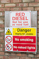 Red Diesel sign