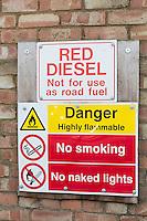 Red Diesel sign