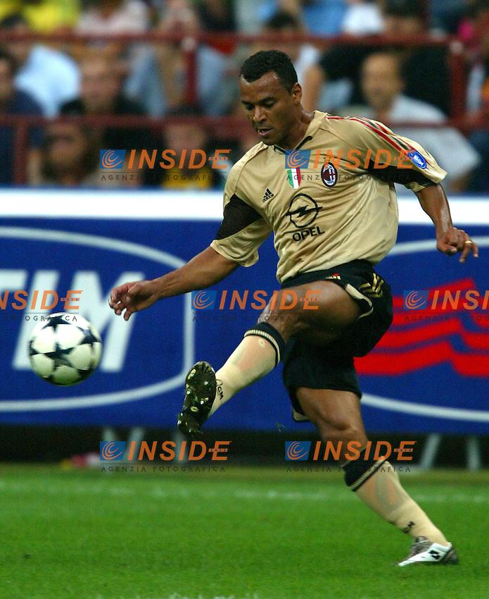 Milano 27/7/2004 Trofeo Tim - Tim tournament <br /> <br /> <br /> <br /> Marcos Cafu (Milan)<br /> <br /> <br /> <br /> Inter Milan Juventus <br /> <br /> Inter - Juventus 1-0<br /> <br /> Milan - Juventus 2-0<br /> <br /> Inter - Milan 5-4 d.cr - penalt.<br /> <br /> <br /> <br /> Photo Andrea Staccioli Insidefoto