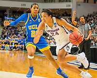 3/25/17, Bridgeport, Ct. NCAA womens sweet sixteen.  Nobody on the Bruins could stop Napheesa Collier [#24]leading all scores with 27 as UCONN advances on to the elite eight on Monay