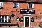 AMHK65 White Horse Inn Pub Netishead Norfolk England