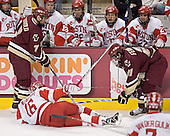 Brad Zancanaro, Peter Harrold, John McCarthy, Peter MacArthur, Brian McGuirk, Chris Higgins, Jason Lawrence, Benn Ferriero - The Boston University Terriers defeated the Boston College Eagles 2-1 in overtime in the March 18, 2006 Hockey East Final at the TD Banknorth Garden in Boston, MA.