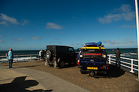 "Aberystwyth Wales UK  Wednesday 31 August 2016<br /> Pictured: RNLI, Coastguard wait at the coast.<br /> Re: Re: A man tried to save his friend who died after falling out of a speedboat, an inquest has been told.<br /> William George Davies, 63, from Borth, died in August after he was thrown overboard during a fishing trip off Aberystwyth.<br /> A second man, Alan Jones, was also thrown overboard but survived.<br /> The inquest at Aberystwyth Justice Centre was told the cause of death was drowning and coroner Peter Brunton recorded a conclusion of misadventure.<br /> Mr Brunton said he had ""concerns"" over the fact the two men were not wearing life jackets, the sea had been ""choppy"" and Mr Jones had taken off the kill cord which would automatically stop the engine if he were thrown overboard.<br /> The inquest heard the men had set out at about 7.30am on 31 August to go fishing, but headed to Aberystwyth harbour a short time later when Mr Davies started to feel unwell - which his friend put down to sea sickness."